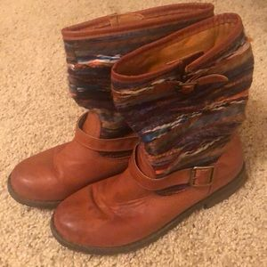 Tribal Woven Boots by Dollhouse